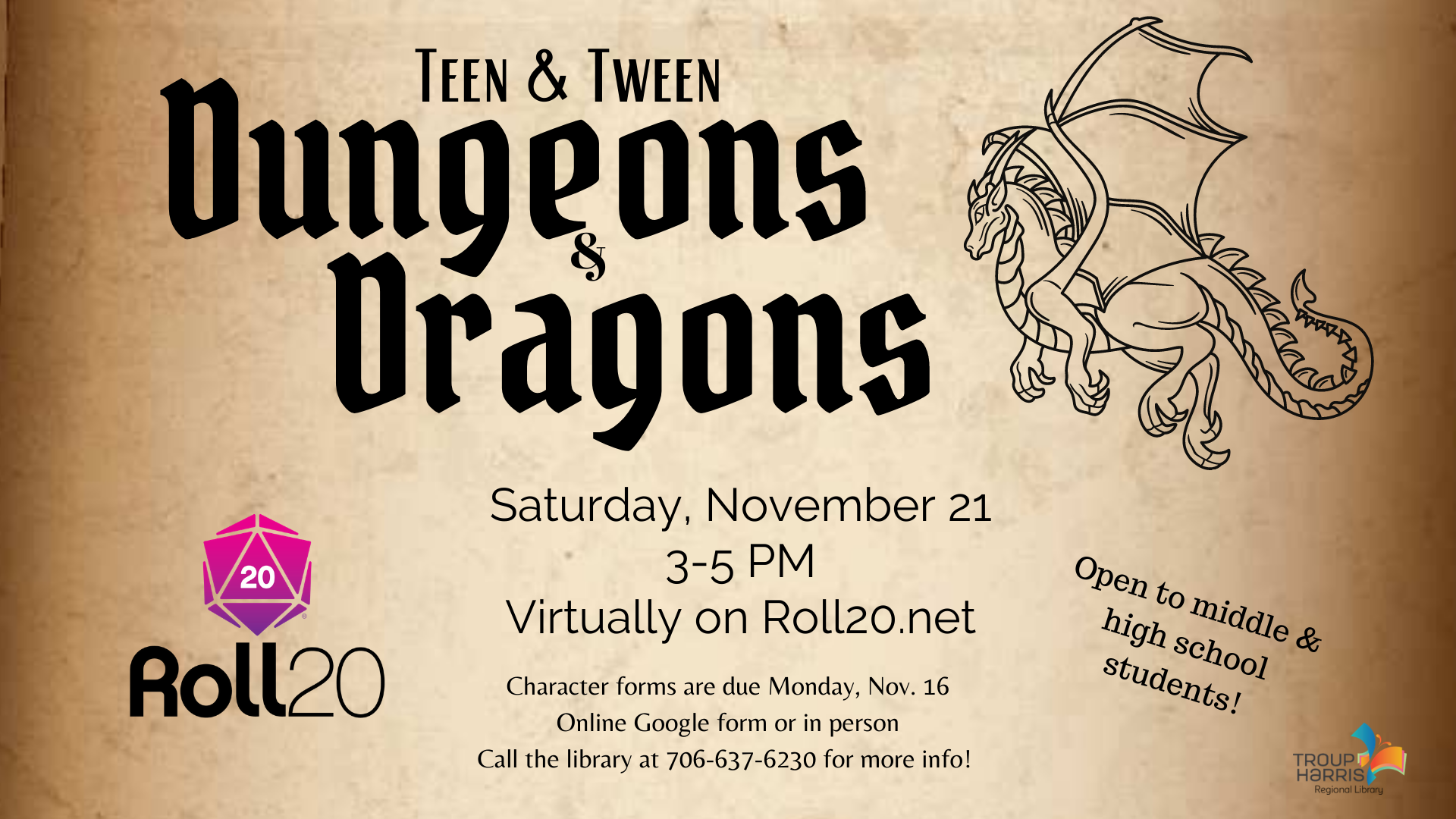 Tween & Teen Dungeons & Dragons
