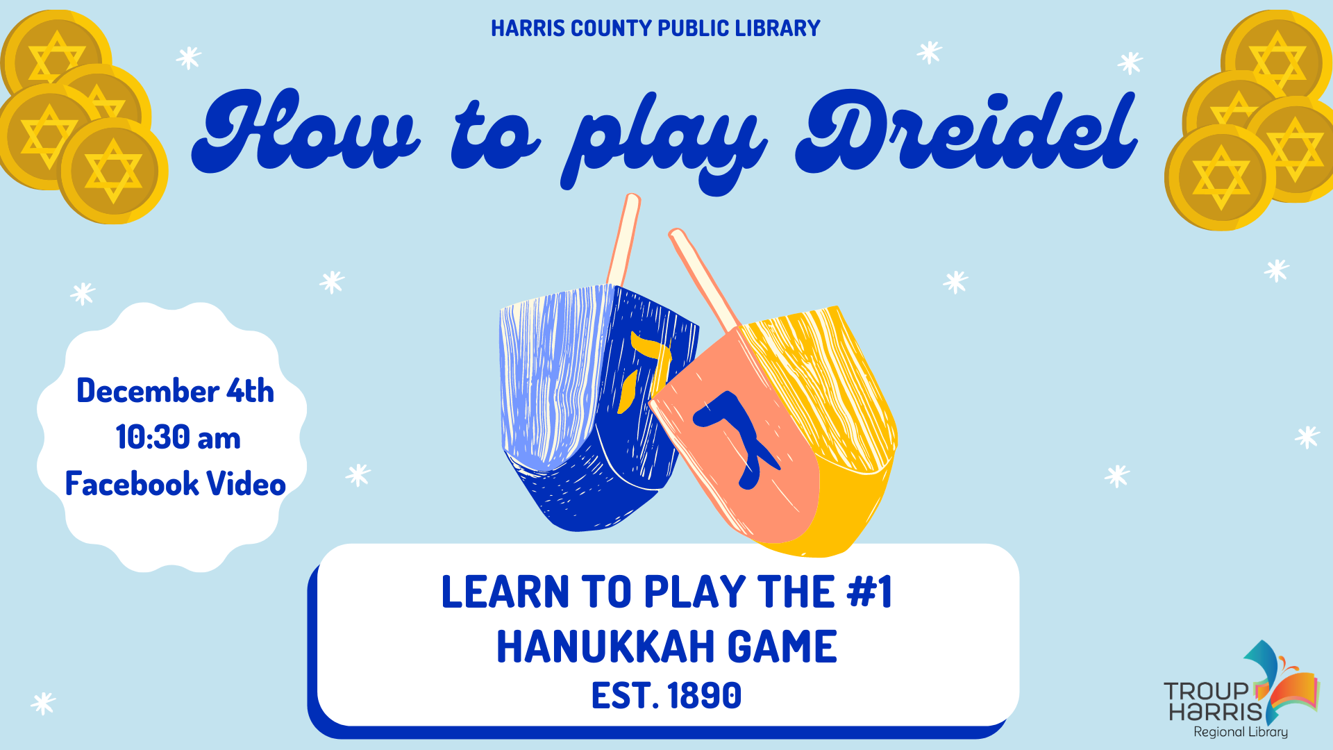 How to Play Dreidel. December 4, 10:30 am Facebook Video