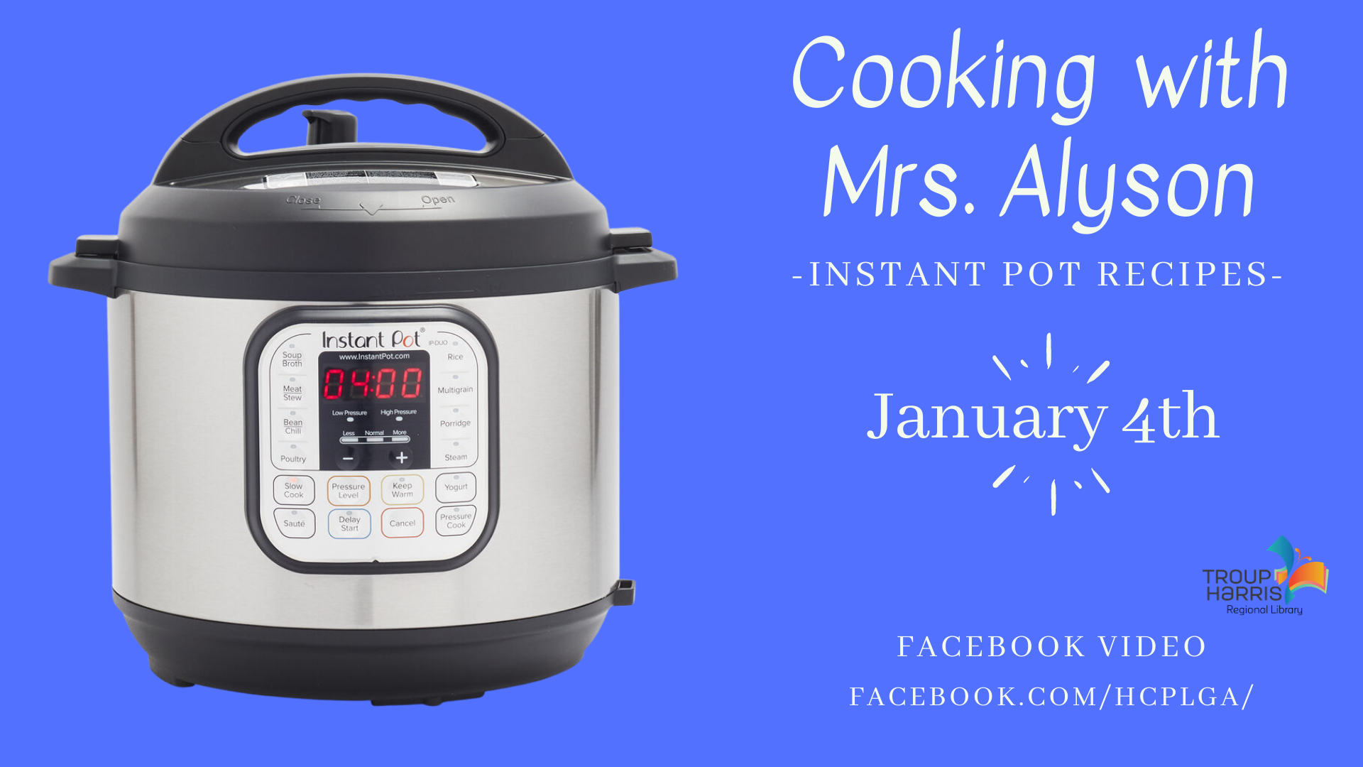 Cooking with Alyson: Instant Pot
