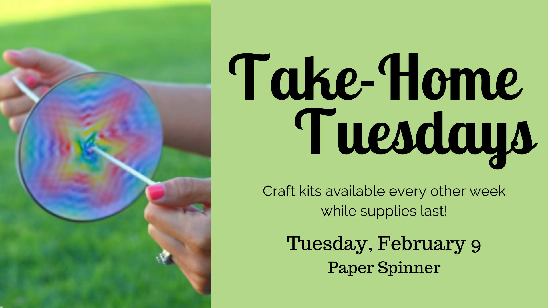 Take Home Tuesdays: Paper Spinner