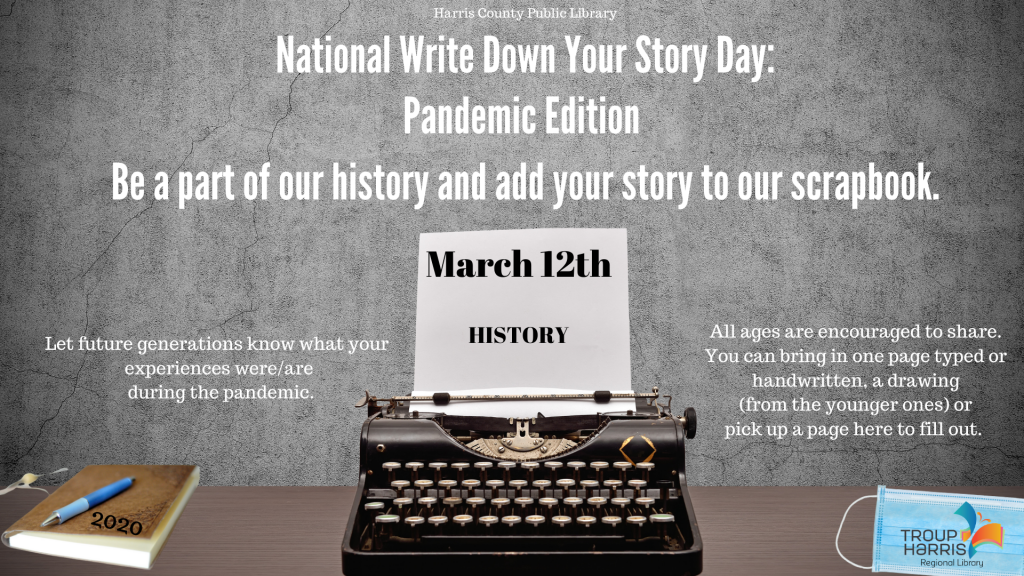 National Write Down Your Story Day