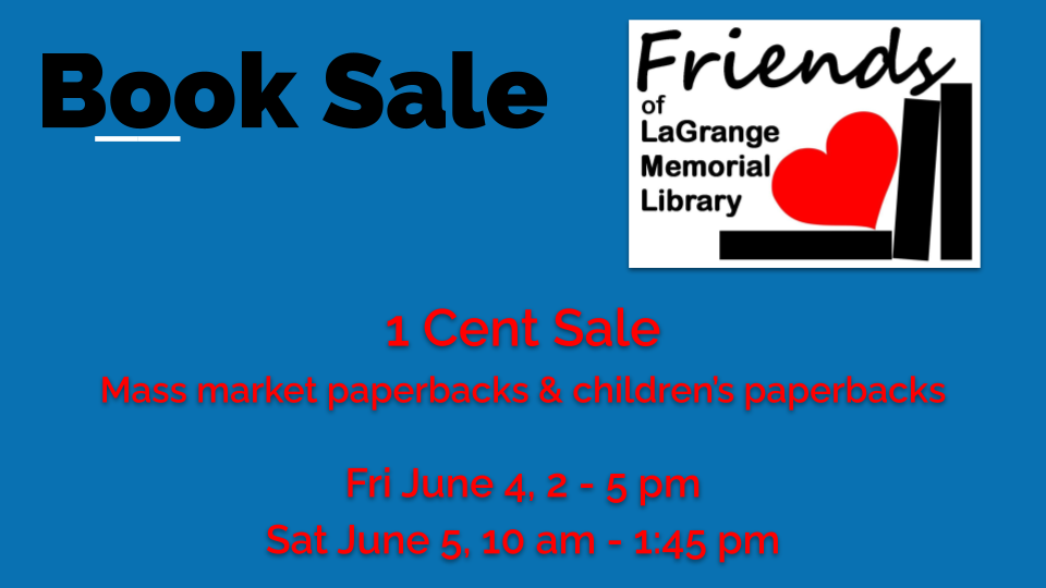 Friends of the Library 1 cent Sale