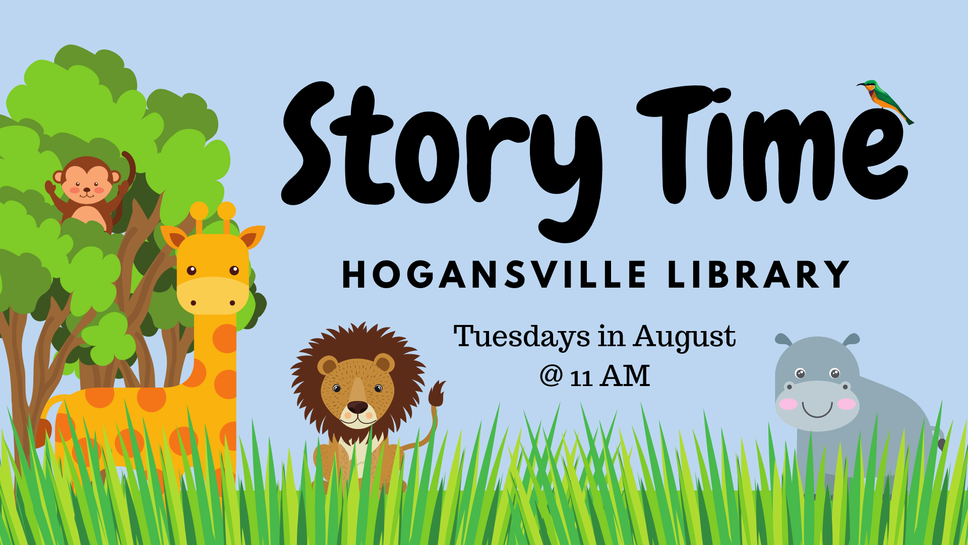 Storytime every Tuesday at 11 am at the Hogansville Public Library